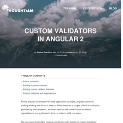 Custom Validators in Angular 2