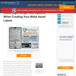 Perfect Metal Inventory Tags – Data Graphics Inc