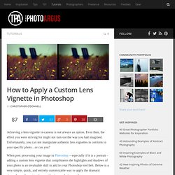How to Apply a Custom Lens Vignette in Photoshop
