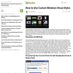 Custom Windows Visual Styles