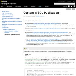 Custom WSDL Publication