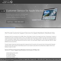 Macbook – Apple Mac Customer Service 1-8004860307