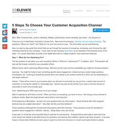 5 Steps To Choose Your Customer Acquisition Channel