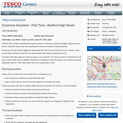 Customer Assistant - Part Time - Bedford High Street