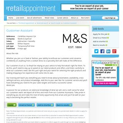 Customer Assistant for Marks & Spencer in Milton Keynes