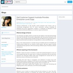 eJibon - Blog View - Dell Customer Support Australia Provides Enterprise-Level Supp