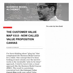 The Customer Value Map v.0.8 - now called Value Proposition Canvas