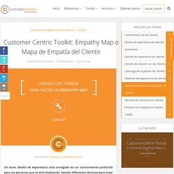 Customer Centric Toolkit: Empathy Map o Mapa de Empatía