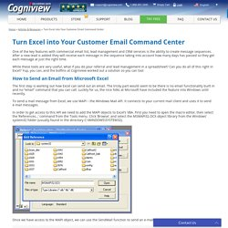 Turn Excel into Your Customer Email Command Center