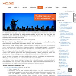 The Vcare Big List of Customer Care Conferences
