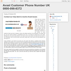 Avast Customer Phone Number UK 0800-098-8372: Contact our help desk to resolve Avast issues