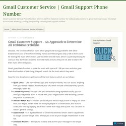 Gmail Customer Support – An Approach to Determine All Technical Problems – Gmail Customer Service