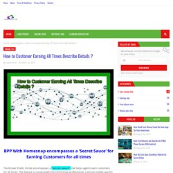 How to Customer Earning All Times Describe Details ?