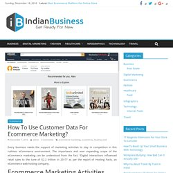 How To Use Customer Data For Ecommerce Marketing? - Indian Business