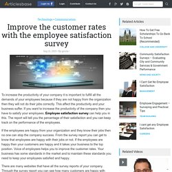 Improve the customer rates with the employee satisfaction survey