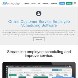Customer Service Employee Scheduling Software