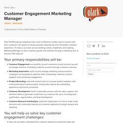 Customer Engagement Marketing Manager at Olark