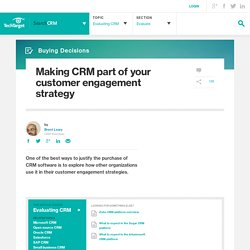 Making CRM part of your customer engagement strategy