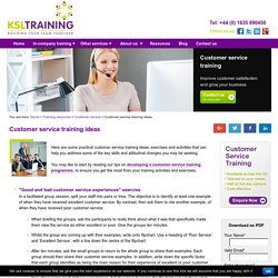 Customer Service Training Ideas, Exercises & Activities
