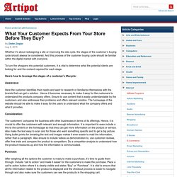 What Your Customer Expects From Your Store Before They Buy?