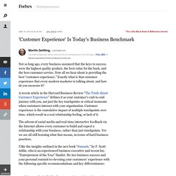 'Customer Experience' Is Today's Business Benchmark