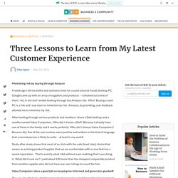 Three Lessons to Learn from My Latest Customer Experience