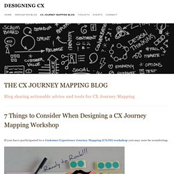Customer Experience Journey Mapping Blog — Designing CX