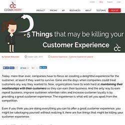 Customer Experience Inhibitors