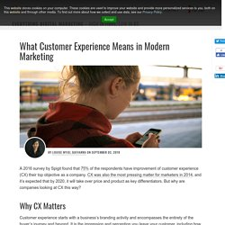 What Customer Experience Means in Modern Marketing