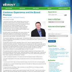 Customer Experience and the Brand Promise