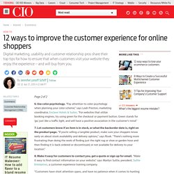 12 ways to improve the customer experience for online shoppers