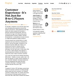 Customer Experience - It's Not Just for B-to-C Players Anymore