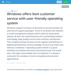 Windows offers best customer service with user-friendly operating system