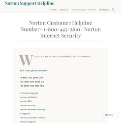 Norton Internet Security – Norton Support Helpline