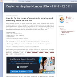 How to fix the issue of problem in sending and receiving email on Gmail?
