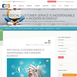 Social Customer Service - Kapture CRM