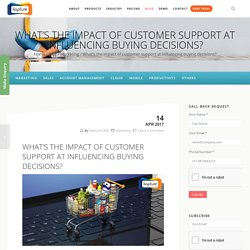 What's the impact of customer support at influencing buying decisions?