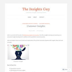 Customer Insights – The Insights Guy