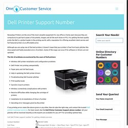 Dell Printer customer support number for Driver installation and Services