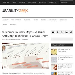 Customer Journey Maps - A 'Quick And Dirty' Technique To Create Them
