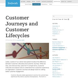 Customer Journeys and Customer Lifecycles