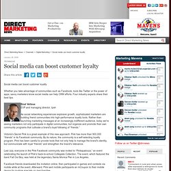 Social media can boost customer loyalty