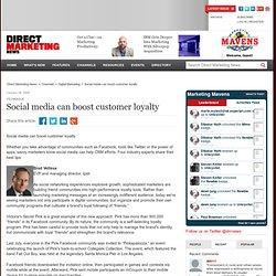 Social media can boost customer loyalty