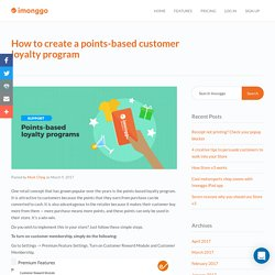 How to create a points-based customer loyalty program – Imonggo