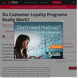 Do Customer Loyalty Programs Really Work?