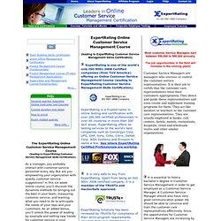 Customer Service Management Course-$129.99- Management Training