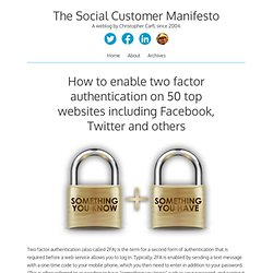The Social Customer Manifesto