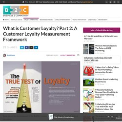 What is Customer Loyalty? Part 2: A Customer Loyalty Measurement Framework