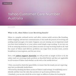 Yahoo Customer Care Number Australia