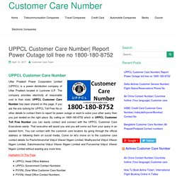UPPCL Customer Care Number